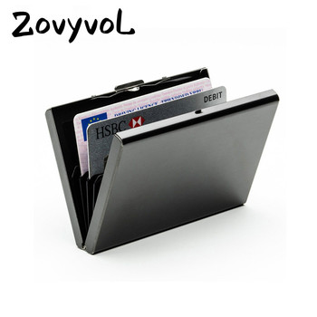 ZOVYVOL Stainless Steel Aluminium Metal Case Box Men Business Credit Card Holder Cover women Coin Purse  Rfid wallet