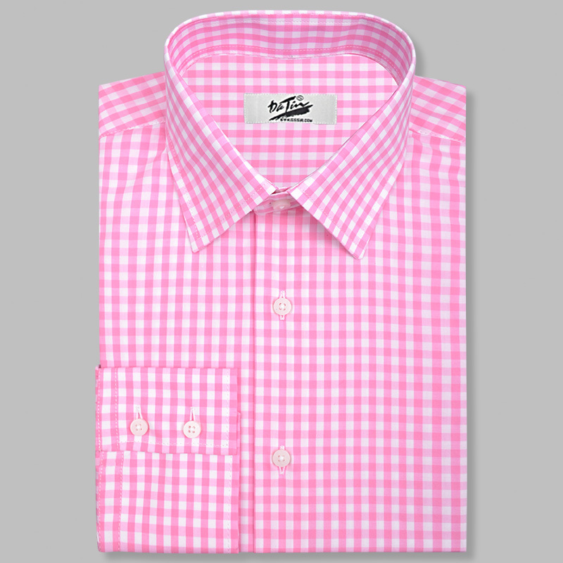 custom made pink gingham dress shirt in dress shirts from