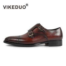 Vikeduo 2019 Vintage Retro Designer Fashion Luxury Dance Party Wedding Brand Male Dress Shoe Genuine Leather