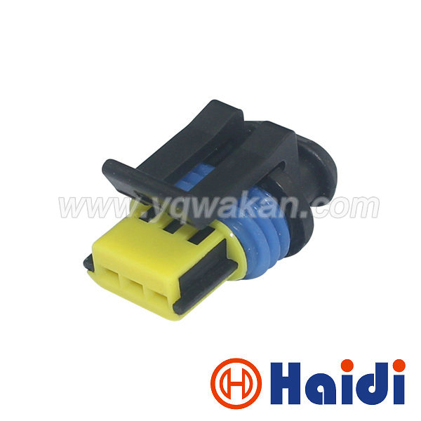 Connectors Free Shipping 10 Sets 3pin 1.5mm Delphi Auto Plastic Waterproof Wire Harness Cable Connector 15336029