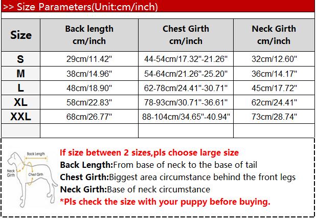 Baru Musim Dingin Anjing Pakaian untuk Besar Menengah PUPPY Anjing Reflektif Parka Rompi Anjing Mantel Luar Ruangan Ski Memakai Kegiatan Jaket Pakaian 10A