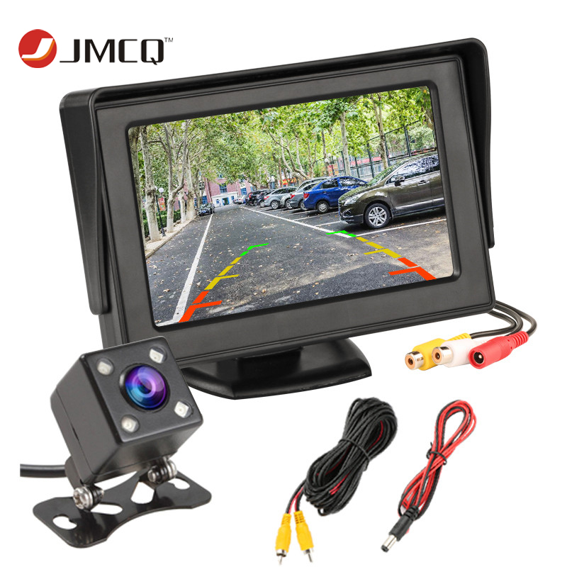 JMCQ Parking-System Monitor Display Reverse-Camera Rearview Tft Lcd For Car NTSC PAL