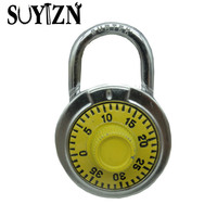 2pc Lot High Security Steel Double Color Lock Luggage Suitcase Box Safety Padlock Professional Combinaison