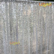 Customize- 5pcs 6mx4m(WxH)  Silver Sequin Backdrop Photo Booth Backdrop for Wedding Christmas Events Curtain Decoration