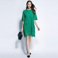 2017 Summer Daily Work Ware Green Black White Wine Purple Lace Dresses Plus Size Women S