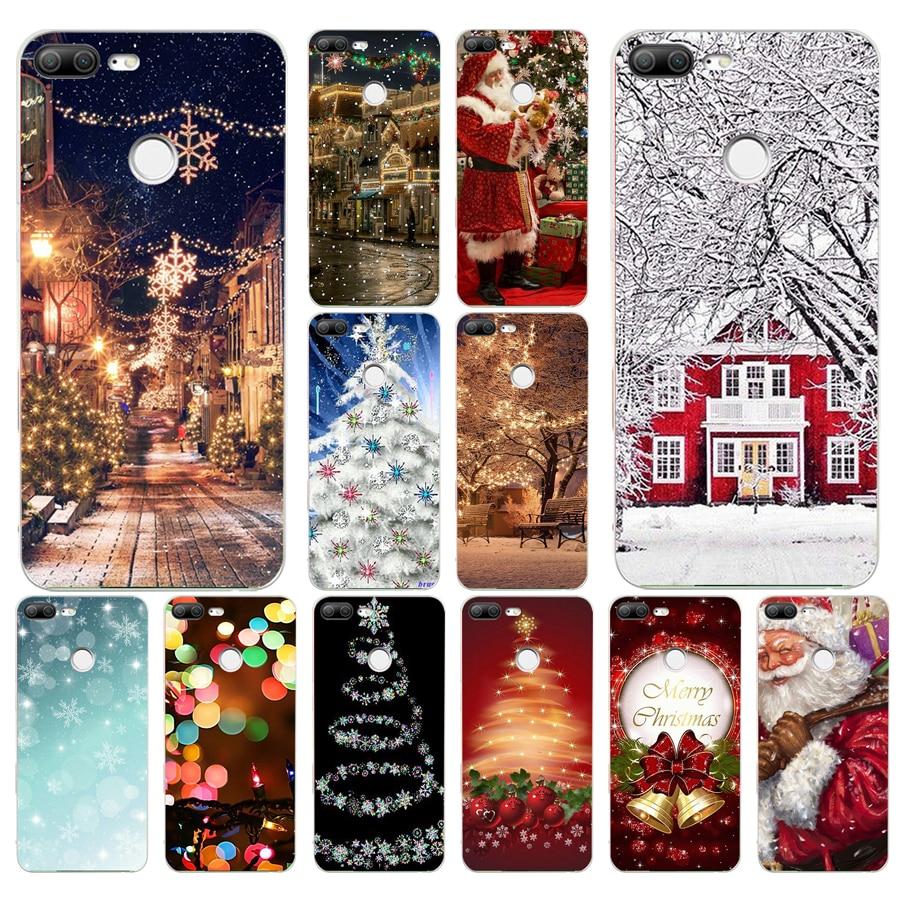 287FG Мягкий силиконовый чехол для телефона с рождественскими огнями для huawei Honor 9 10 20 Lite Pro|Специальные чехлы|   | АлиЭкспресс