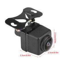 HD 180 Gradi Lente Fisheye Grandangolare di Visione Notturna Nero Videocamera per auto Costruito in lega di alluminio impermeabile Ad Alta sensibilità