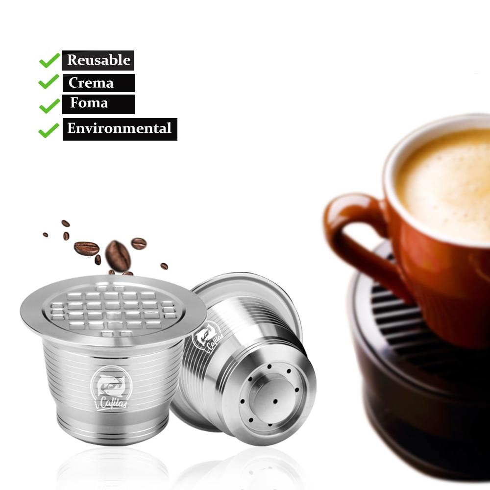 2nd Génération Acier Inoxydable Métal Rechargeable Réutilisable Capsule Pour Nespresso Machine Rechargeable Capsulone Livraison Gratuite