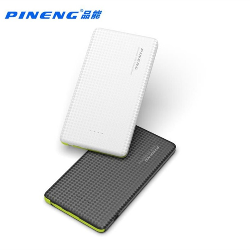 PINENG PN-952 5000 mAh Puissance Banque Built-In Charge Câble Externe Batterie Pack Vibrant Interrupteur D'alimentation USB