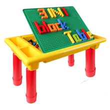 hot deal buy 200pcs blocks +desk creative brick table foldable educational toy for kids compatible with classic legoed blocks