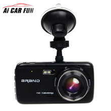 Big discount 4.0″ Car DVR Camera Dual Lens With LDWS ADAS Rear View Support Front Car Distance Warning Full HD 1080P Car Dvrs Dashcam