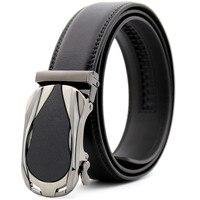 LannyQveen New Model Ratchet Belt Men S Automatic Buckle Belt Cow Leather Fashion Belts For Man