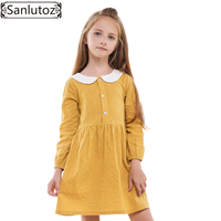Sanlutoz Princess Girls Dress Winter Children Clothing Cotton Kids Clothes Toddler Brand Long Sleeve Wedding Party