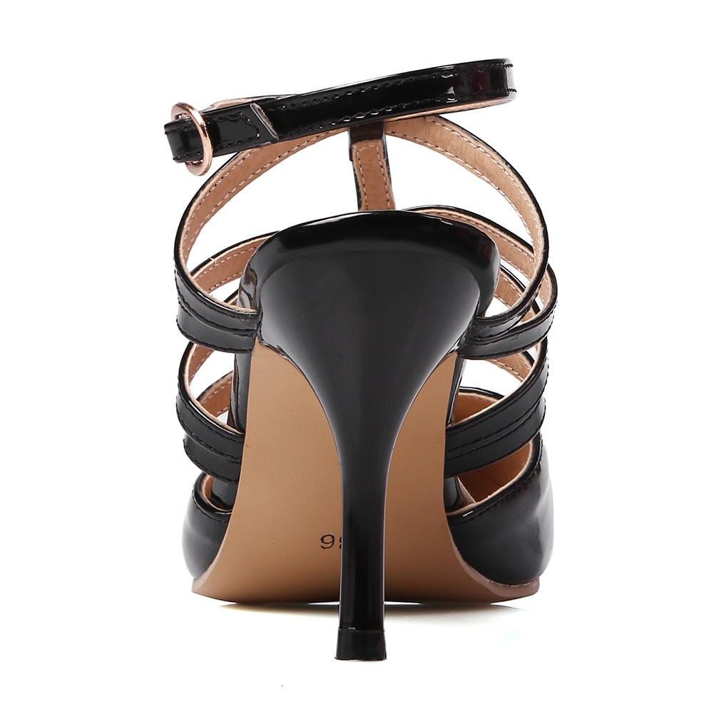 Sarairis Mode Haute noir 30 Femme Nouvelle Sangle Mince Grande Taille blanc Qualité D'été Solide Boucle jaune Chaussures Talons Occasionnels Top rouge Sandales 48 Nude rqxrRS5