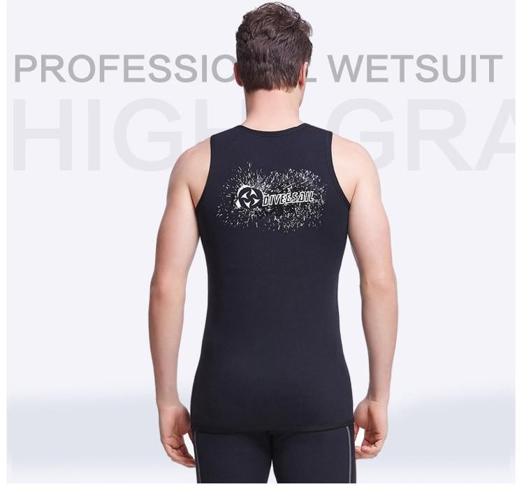 3MM Neopren Neopren fără mâneci Jumpsuit Bărbați Wetsuit Scuba - Imbracaminte sport si accesorii - Fotografie 2