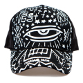 New 2016 Fashion Spring Summer Snapbacks Black White Graffiti Eyes Printing Mesh Baseball Caps Sun Hat Trucker Cap For Men Women