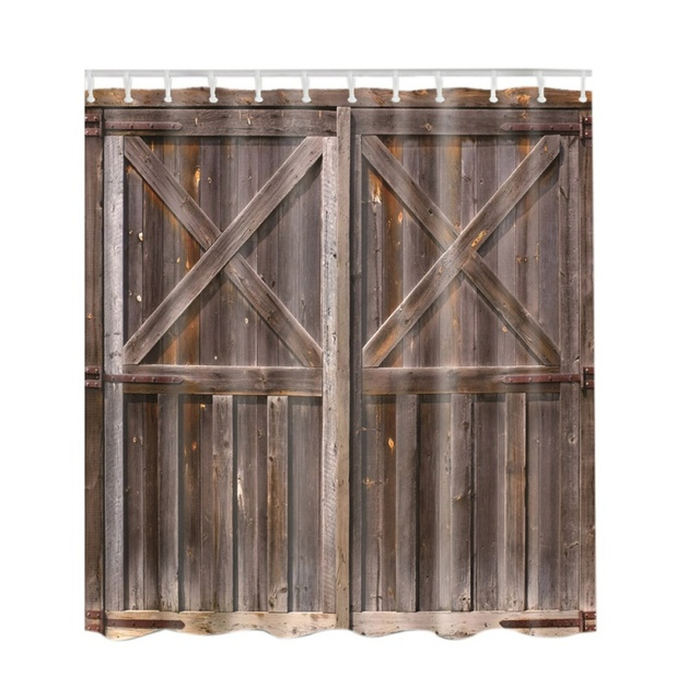Rustic Shower Curtain Old Wooden Barn Door Of Farmhouse Oak Countryside Vintaage Style Board Rural Life
