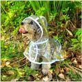 AilusPet Cãozinho Poodle de Pelúcia Roupa Do Cão À Prova D' Água Transparente QUENTE Capas De Chuva Para Cães de Brinquedo Pet Raincoat Adequado Em Todas As Estações