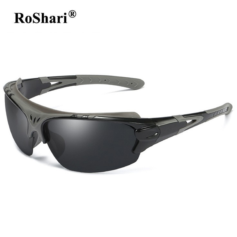 RoShari vintage Polarized sunglasses men women Fishing Sun Glasses Men outdoor Sports sunglass Hiking UV400 eyeglasses 5316