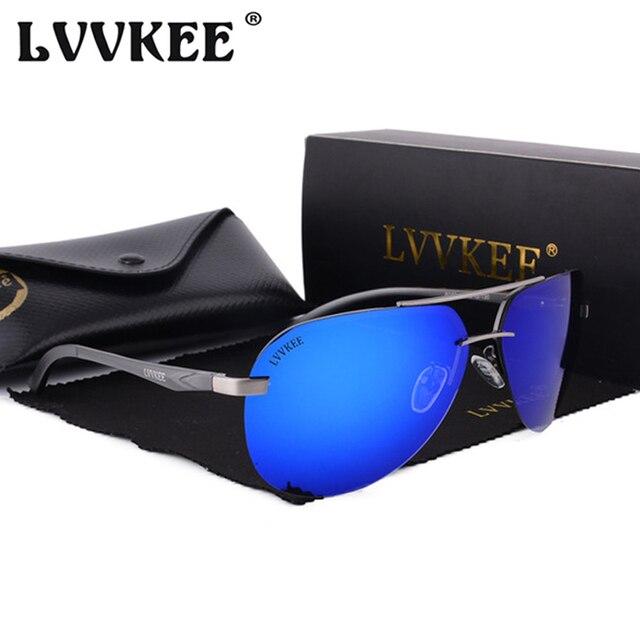 Hot 2018 LVVKEE Brand Polarized Sunglasses Men/Women Aluminum Magnesium HD Mirror Sun glasses UV400 Anti-Vertigo Oculos de sol
