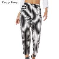 Roy S Fans Fashion Women Summer Autumn Striped Trousers Female Elegant High Waist Wide Leg Casual
