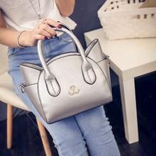 цена на Retail Cute Cat Bao Women Handbag Ladies Shoulder Bag Messenger Crossbody Small PU leather Bag Silver Tote Bags bolsos mujer