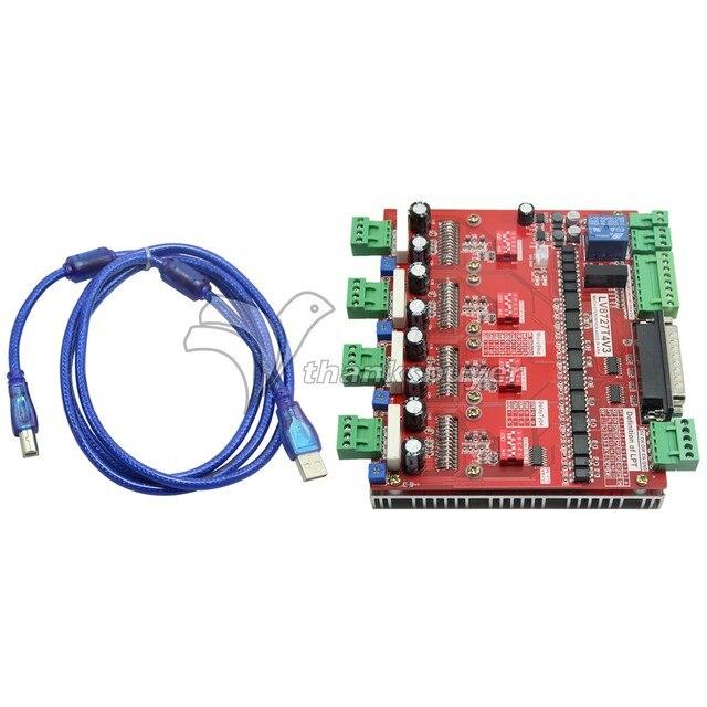 LV8727 CNC Quatro Eixo 4 Axis Stepper Motor Driver Controlador Board w/Cabo Paralelo DB25 para MACH3 KCAM4