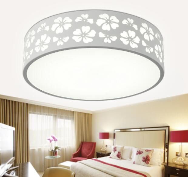 Ceiling Lamp Shades For Living Room: Iron Flower Shade Circular Ceiling Lights Home Lighting