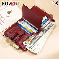 Small wallet women multifunction purse wallets with coin pocket zipper Genuine leather wallet famous brand money bag