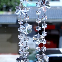 20 Meters Lot Crystal Snowflake Beads Chains Glass Hanging Strand Garlands For Wedding Party Christmas Tree