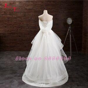 Image 4 - Jark Tozr Custom Made mały biały sukienki Vestido De Casamento aplikacje wysoki niski suknia ślubna chiny sklep internetowy Trouwjurk