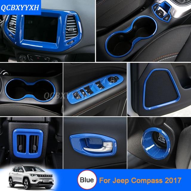 Car Styling Bleu couleur Pour Jeep Compass 2017 Voiture Intérieur