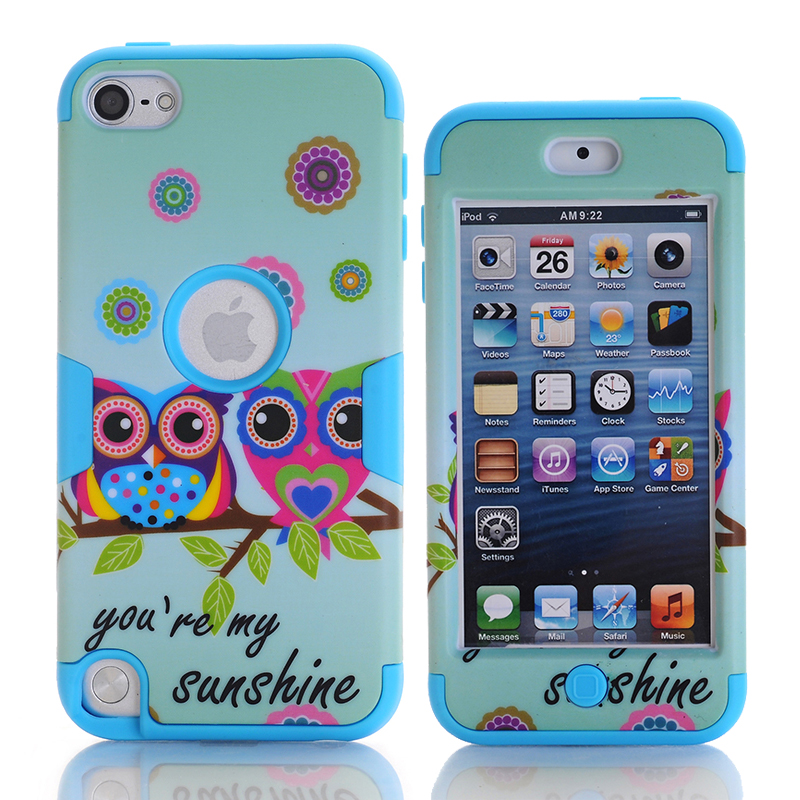 For Apple iPod Touch 5 Owls Case Covers Anti-Knock Hybrid Hard & Silicone Phone Cases Fundas For iPod Touch5
