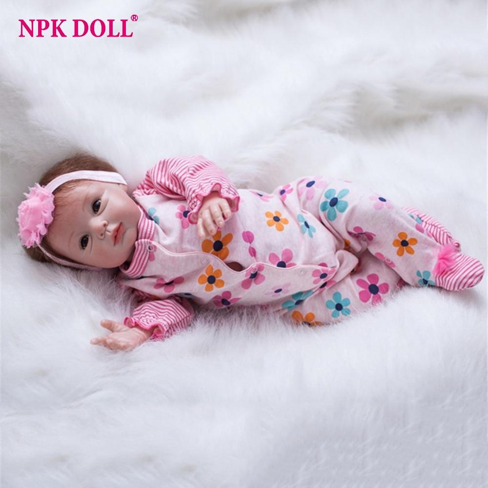 55 cm Silicone Reborn bébés réaliste 22 ''fait à la main Reallike échapper colle Reborn bébé nouveau-né poupée gros yeux bébé poupée
