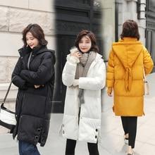 Brieuces Parka Women 2018 Winter Jacket Women Coats Hooded Coats Female Long Thick Cotton Padded Lining Winter Coat Female цены онлайн