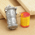 S925 sterling silver pendant vintage thai silver gau box pendant om mani padme hum pendant men's pendant