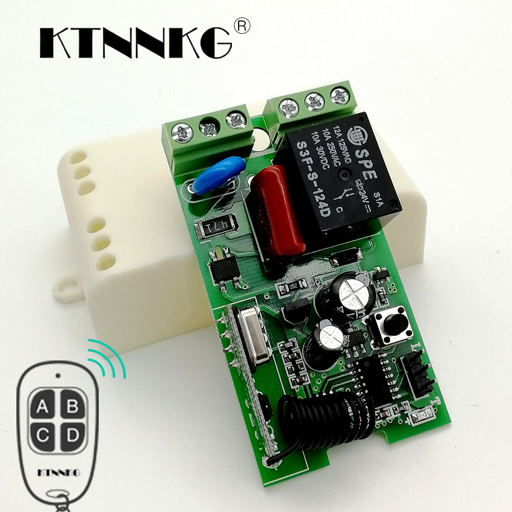 Lowered Ktnnkg 433mhz Ac220v 1ch Wireless Remote Control Switch Transmitter Receiver Pair Operating At 433 Mhz Rf Module Relay Smart Home For