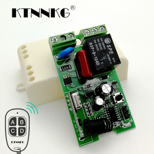 Image 1 - KTNNKG 433MHz AC220V 1CH Wireless Remote Control Switch Relay Module Smart Home Receiver for 433 MHz RF Transmitter