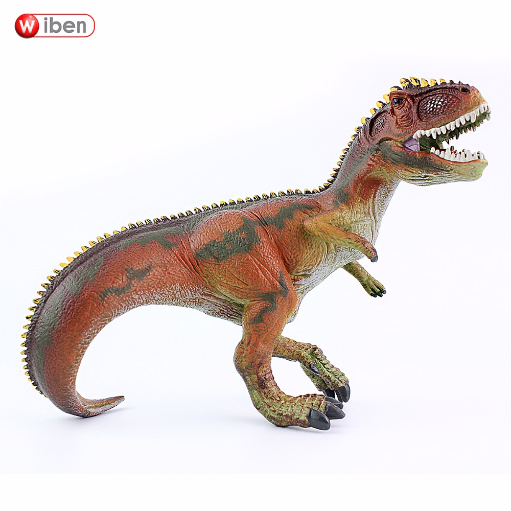 Wiben Jurassic Giganotosaurus Plastic toy Dinosaur Action & Toy Figures Animal Model Collection Vivid Hand Painted Souvenir Gift jurassic dinosaur model plastic animal height simulation giganotosaurus action figure toys collection for kids gifts