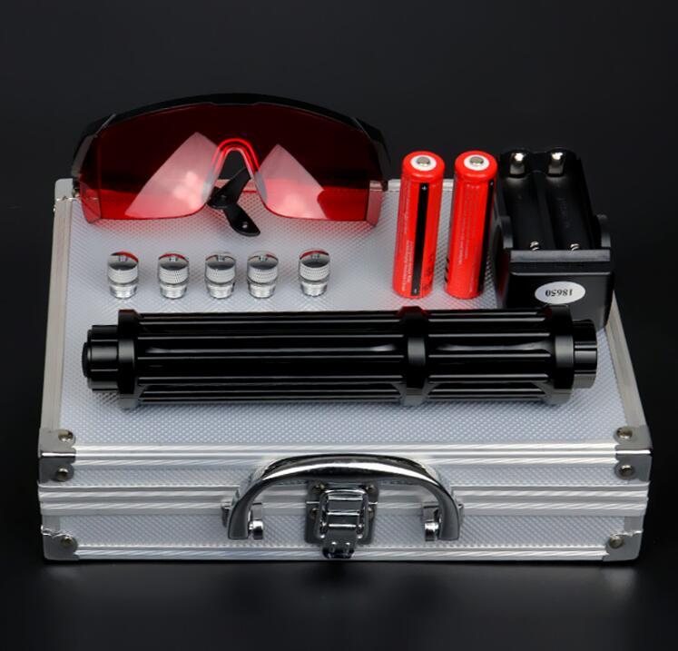 800000 м синий лазерный указатель 450nm мобильный Зарядное устройство Lazer Pen регулируемый фокус Сжигание матч Бумага зажженной сигареты с 5 звезд ...