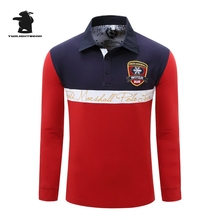 New men's long sleeve polo shirts designer fashion embroidery High quality plus size casual polo shirts men pull homme CB23D053