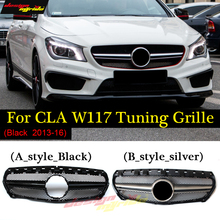 W117 grille AMG style ABS Before Black and Silver colour For Mercedes-Benz CLA CLA180 CLA200 CLA250 CLA45 grilles 14-17