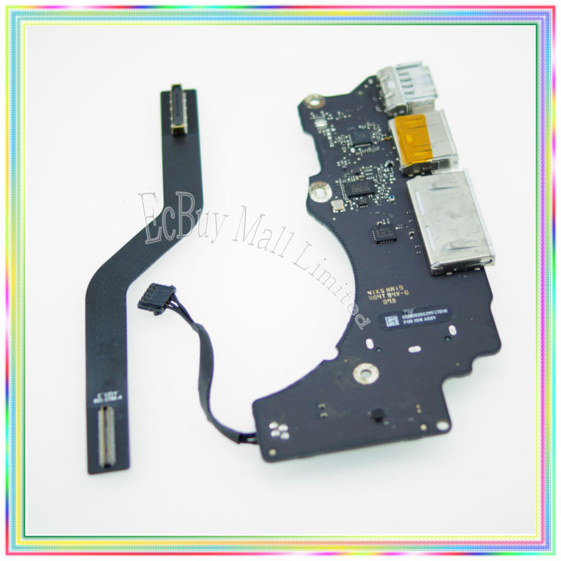 Tested For MacBook Retina 13.3 A1502 Dc In Board I/O Board Poewr Board with cable 821-1790-A 2013-14 Year i o board usb sd card reader board 820 3071 a 661 6535 for macbook pro retina 15 a1398 emc 2673 mid 2012 early 2013