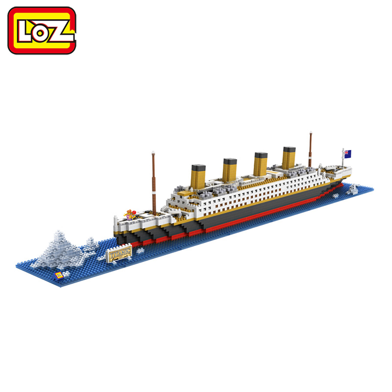 Ormino LOZ RMS Titanic Ship 3D Building Blocks Toy Titanic Boat 3D Model Educational Gift Toy for Children