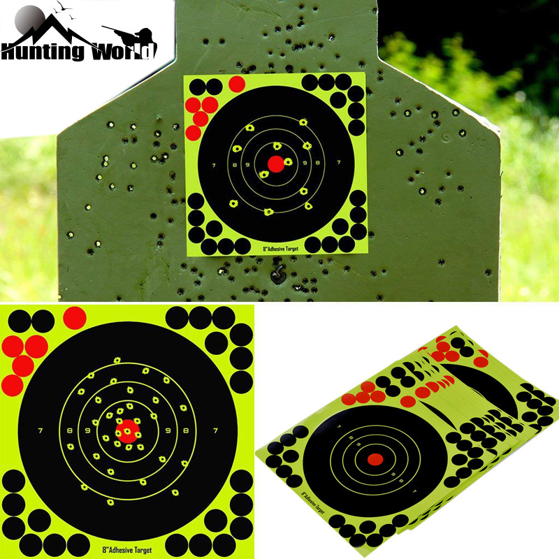 """Hunting 8"""" Reactive Splatter Self Adhesive target stickers Fluorescent Yellow shooting Practice stickers for Airsoft Gun Rifle-in Paintball Accessories from Sports & Entertainment"""