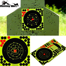 "Hunting 8"" Reactive Splatter Self Adhesive target stickers Fluorescent Yellow shooting Practice stickers for Airsoft Gun Rifle"