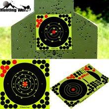 """Polowanie 8 """"reaktywne Splatter samoprzylepne naklejki docelowe fluorescencyjny żółty strzelanie praktyka naklejki do karabinu Airsoft Gun"""