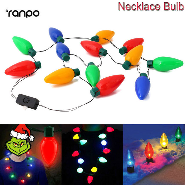 1x 5x 10x led candle lights christmas bulb necklace party favors holiday decor new year gift