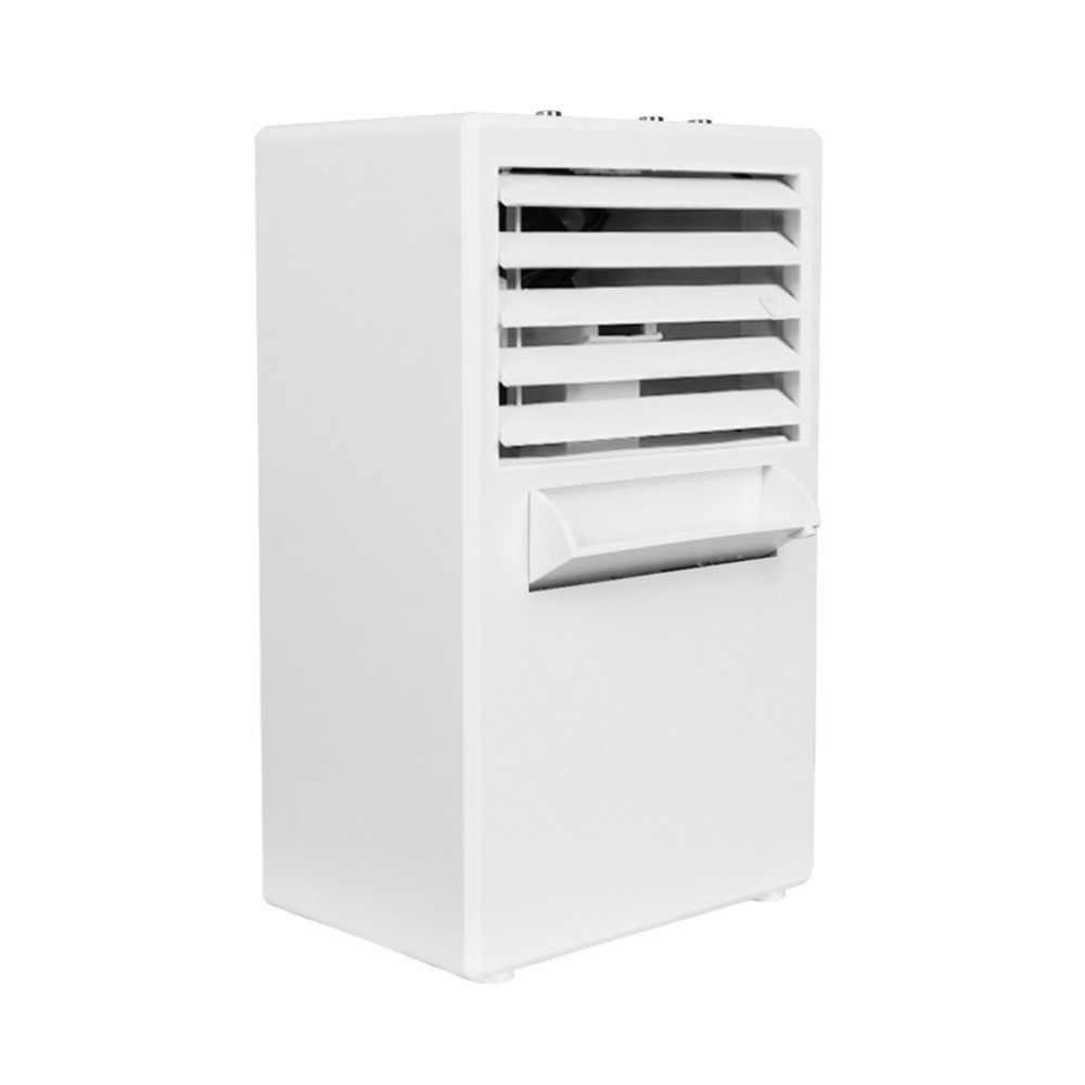 Mini Portable Air Conditioner Meja Meja Kecil Rumah Kantor Bladeless Fan Humidifier Tenang Pribadi Pelembab Air Cooler