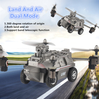 2018 Newest WIFI FPV Military RC Helicopter FY330 Drone Tank Car Toys 2.4G 4CH 2 In 1 Air and Land Mode RC Quadcopter Car Toy